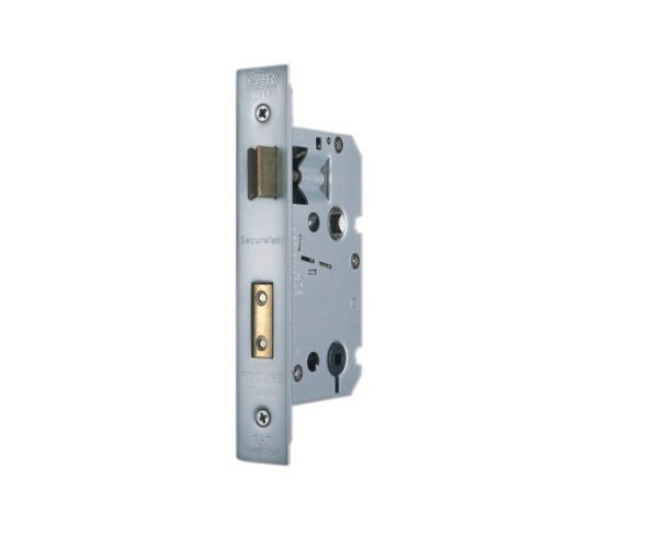 Satin Chrome Bathroom Lock