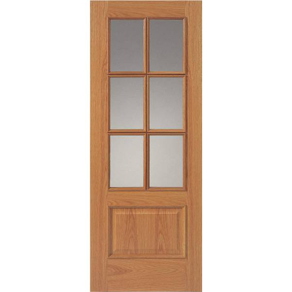 12-6VMN Oak Door (Unfinished)